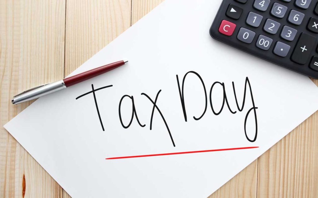 Tax Day - July 15th, 2020